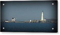 The Bay Acrylic Print by Maria Scarfone