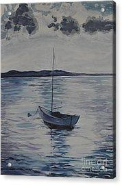 The Bay Acrylic Print by Sally Rice