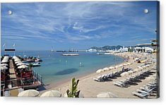 Acrylic Print featuring the photograph The Beach At Cannes by Allen Sheffield