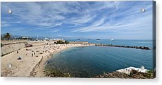 Acrylic Print featuring the photograph The Beach At Cap D' Antibes by Allen Sheffield