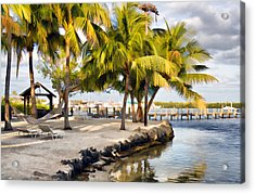 The Beach At Coconut Palm Inn Acrylic Print