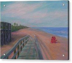 The Beach At Flagler Beach Acrylic Print