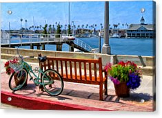 The Beach Cruiser Acrylic Print