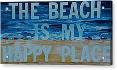 The Beach In My Happy Place Two Acrylic Print by Patti Schermerhorn
