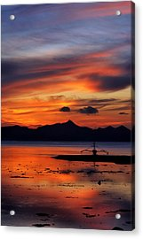 Acrylic Print featuring the photograph The Beach by John Swartz