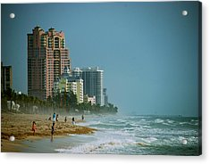 The Beach Near Fort Lauderdale Acrylic Print by Eric Tressler