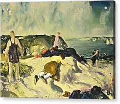 The Beach Newport Acrylic Print by George Wesley Bellows