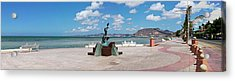 The Beachside Strolling Malecon Acrylic Print