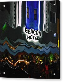 Acrylic Print featuring the photograph The Beacon Hotel by Gary Dean Mercer Clark