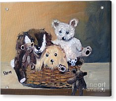 The Bears Are Back In Town Acrylic Print by Sharon Burger