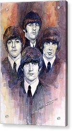 The Beatles 02 Acrylic Print by Yuriy  Shevchuk