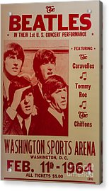 The Beatles 1st U.s. Concert Acrylic Print by Mitch Shindelbower