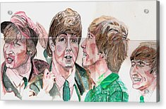 The Beatles 3 Acrylic Print by David Garren