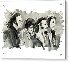 The Beatles 3 Acrylic Print by Bekim Art