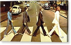 The Beatles Abbey Road Artwork Acrylic Print by Sheraz A