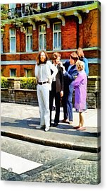 The Beatles Abbey Road Acrylic Print by Vincent Monozlay