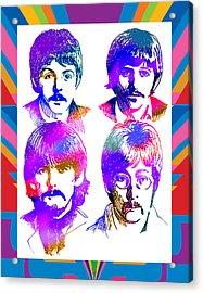 The Beatles Art Acrylic Print by Robert Korhonen