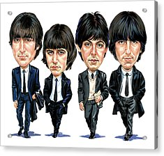 The Beatles Acrylic Print by Art
