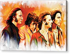 The Beatles Artwork Acrylic Print by Sheraz A