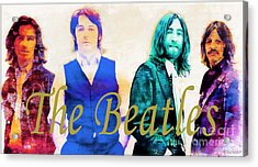 The Beatles Acrylic Print by Barbara Chichester