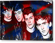 The Beatles Before Ringo Pete Best Painting Acrylic Print by Marvin Blaine