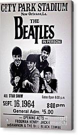 The Beatles Circa 1964 Acrylic Print
