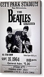 The Beatles Circa 1964 Acrylic Print by Saundra Myles
