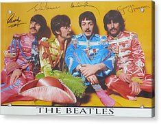 The Beatles Acrylic Print by Donna Wilson