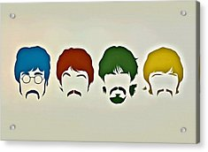 The Beatles Acrylic Print by Florian Rodarte