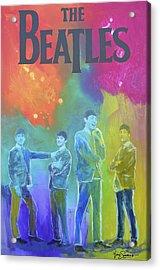 The Beatles Acrylic Print by Gino Savarino