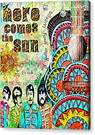 The Beatles Here Comes The Sun Acrylic Print