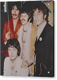The Beatles In Color Acrylic Print by Donna Wilson