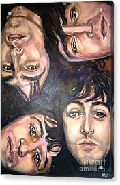 The Beatles Inspired Portrait Acrylic Print by Misty Smith
