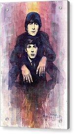 The Beatles John Lennon And Paul Mccartney Acrylic Print
