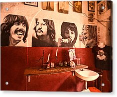 The Beatles Acrylic Print by Lindley Johnson