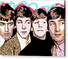 The Beatles Love Acrylic Print by David Lloyd Glover