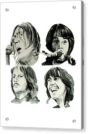 The Beatles Acrylic Print by Bekim Art