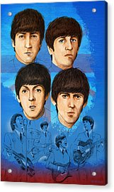 The Beatles Montage One Acrylic Print