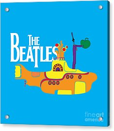 The Beatles No.11 Acrylic Print by Caio Caldas
