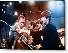 The Beatles On The Ed Sullivan Show Acrylic Print by Marvin Blaine