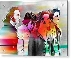 The Beatles Painting Acrylic Print by Marvin Blaine