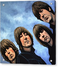 The Beatles Rubber Soul Acrylic Print by Paul Meijering