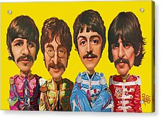 Acrylic Print featuring the digital art The Beatles by Scott Ross