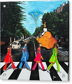 The Beatles Sgt Peppers Walk On Abby Road Acrylic Print
