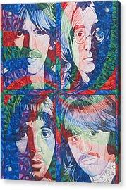 The Beatles Squared Acrylic Print by Joshua Morton