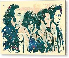 The Beatles - Stylised Pop Art Drawing Potrait Poser Acrylic Print by Kim Wang