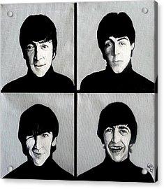 The Beatles Acrylic Print by Tom Carlton