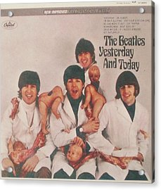 The Beatles Yesterday And Today Butcher Album Cover Acrylic Print by Donna Wilson