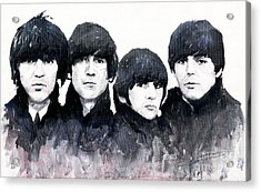 The Beatles Acrylic Print by Yuriy  Shevchuk