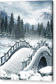 The Beautiful Gothic Winter Art Acrylic Print by Boon Mee